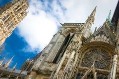 Notre- Damekathedrale in Rouen Stockfotos