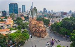 Notre- Damekathedrale in Saigon Stockbild