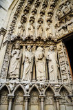 Notre- Damekathedraleskulptur Stockbild