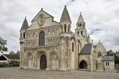 Notre- Damela groß, Poitiers Lizenzfreie Stockbilder