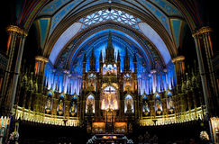 Notre Damme De Montreal royalty free stock photography