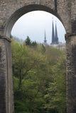 Notre Damme katedra w Luksemburg zdjęcie royalty free
