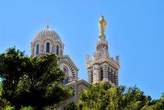 Notre-Freifrau-De-La-Garde in Marseille Lizenzfreies Stockfoto