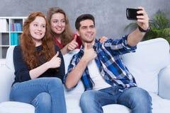 Notre idéal frais de selfie pour le réseau social Image libre de droits