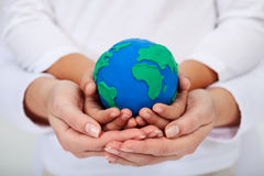 Notre legs aux prochaines générations - une terre propre Image stock