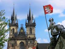 Notre Madame avant Tyn. Prague Images stock