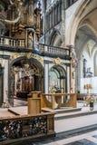 Notre Madame d'église Bruges de Mariastraat images libres de droits