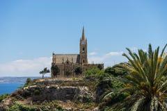 Notre Madame d'église de Lourdes Photographie stock libre de droits