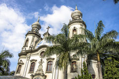 Notre Madame d'église du Brésil Images libres de droits