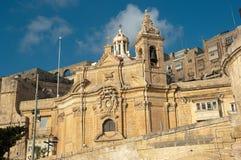 Notre Madame de Liesse à Valletta, Malte Image libre de droits