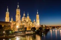 Notre Madame du pilier à Saragosse, Aragon Photographie stock
