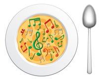 Notre nourriture sont music2 Image libre de droits