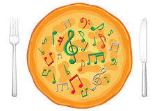 Notre nourriture sont music3 Image stock