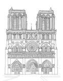 Notre paniusi katedra royalty ilustracja