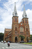 Notre paniusi katedry chi minh Vietnam ho Obrazy Stock