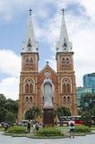 Notre paniusi katedry chi minh Vietnam ho Zdjęcia Royalty Free