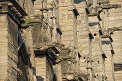 Notre paniusi Paris gargulece i statuy Obrazy Royalty Free