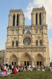 notre paris dame Франции собора Стоковые Фотографии RF