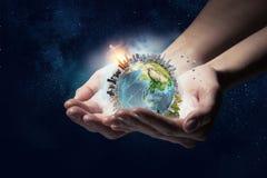 Notre planète a besoin de soin et d'amour Media mélangé Images libres de droits