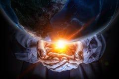 Notre planète a besoin de soin et d'amour Media mélangé Image stock