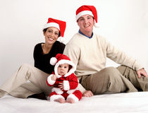 Notre premier Noël Photographie stock libre de droits