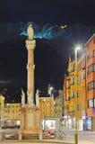 Notre statue de Madame à la vieille ville à Innsbruck Autriche Photos libres de droits