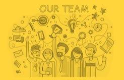 Notre succès Team Linear Design Image libre de droits
