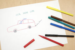 Notre véhicule neuf Photo libre de droits