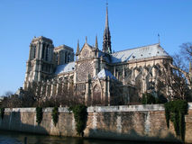 Notredame - Paris. Looking the fabulous church of Notredame Royalty Free Stock Image