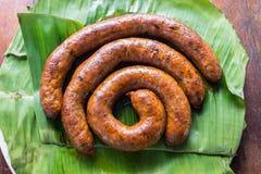 Notrhern Thai Spicy Sausage. (Sai Aua Stock Photography