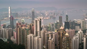 Notte al timelapse di giorno di Hong Kong stock footage