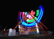 Notte alla Luna Park locale Fotografie Stock