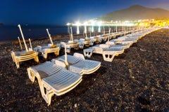Notte alla spiaggia fotografia stock libera da diritti
