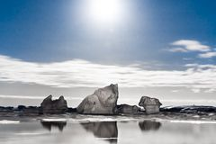 Notte antartica fotografia stock libera da diritti