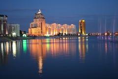 Notte Astana immagine stock libera da diritti