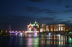 Notte Astana immagini stock