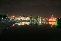 Notte Astana fotografia stock libera da diritti