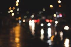 Notte astratta del bokeh immagine stock libera da diritti