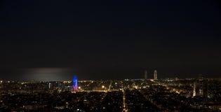 Notte a Barcellona Fotografia Stock