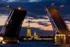 Notte bianca a St Petersburg Immagine Stock
