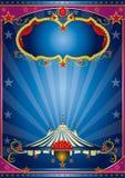 Notte blu del circo Immagini Stock Libere da Diritti