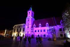 Notte Bratislava Fotografie Stock Libere da Diritti