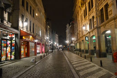 Notte Bruxelles Fotografia Stock