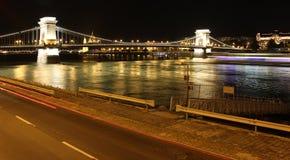 Notte Budapest immagini stock