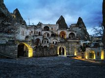 Notte in Cappadocia immagini stock