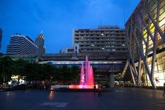 Notte centrale del mondo di Bangkok Fotografie Stock