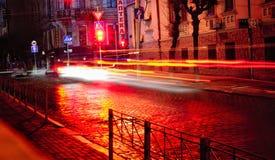 Notte in Cernivci Immagine Stock Libera da Diritti