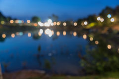 Notte che si accampa nel parco Fotografia Stock