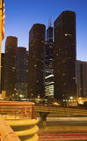 Notte in Chicago Fotografia Stock