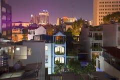 Notte in Chinatown Distretto 5 Saigon, Vietnam Immagine Stock Libera da Diritti